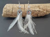 Feather Earrings White White