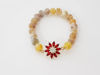 Yellow agate stone and star bracelet for woman