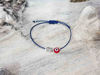 Red Evil Eye Owl Blue String