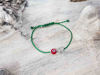 Red Evil Eye Owl Green String