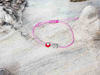 Red Evil Eye Owl Pink String