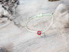 Red Evil Eye Petal Pixie Green String
