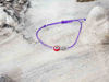 Red Evil Eye Leaf Royal Purple String