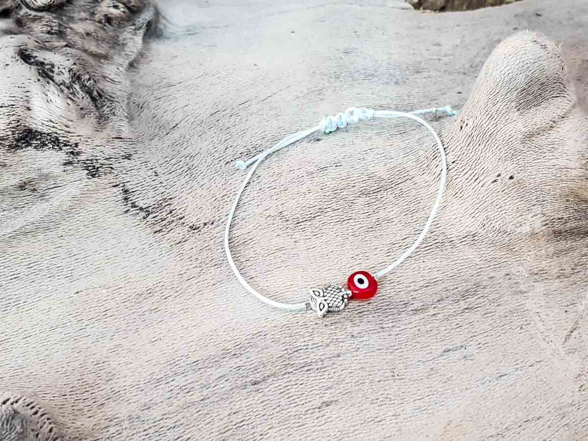 Red Evil Eye Owl Sky String