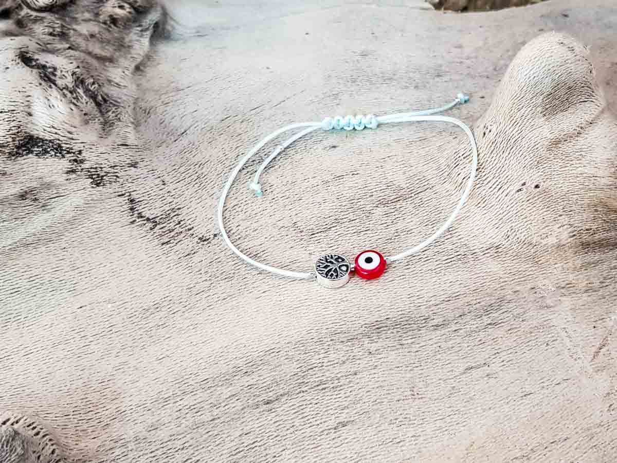Red Evil Eye Tree Of Life Sky String