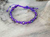Macrame bracelet with Purple string color