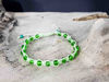 Macrame bracelet with Pixie Green string color