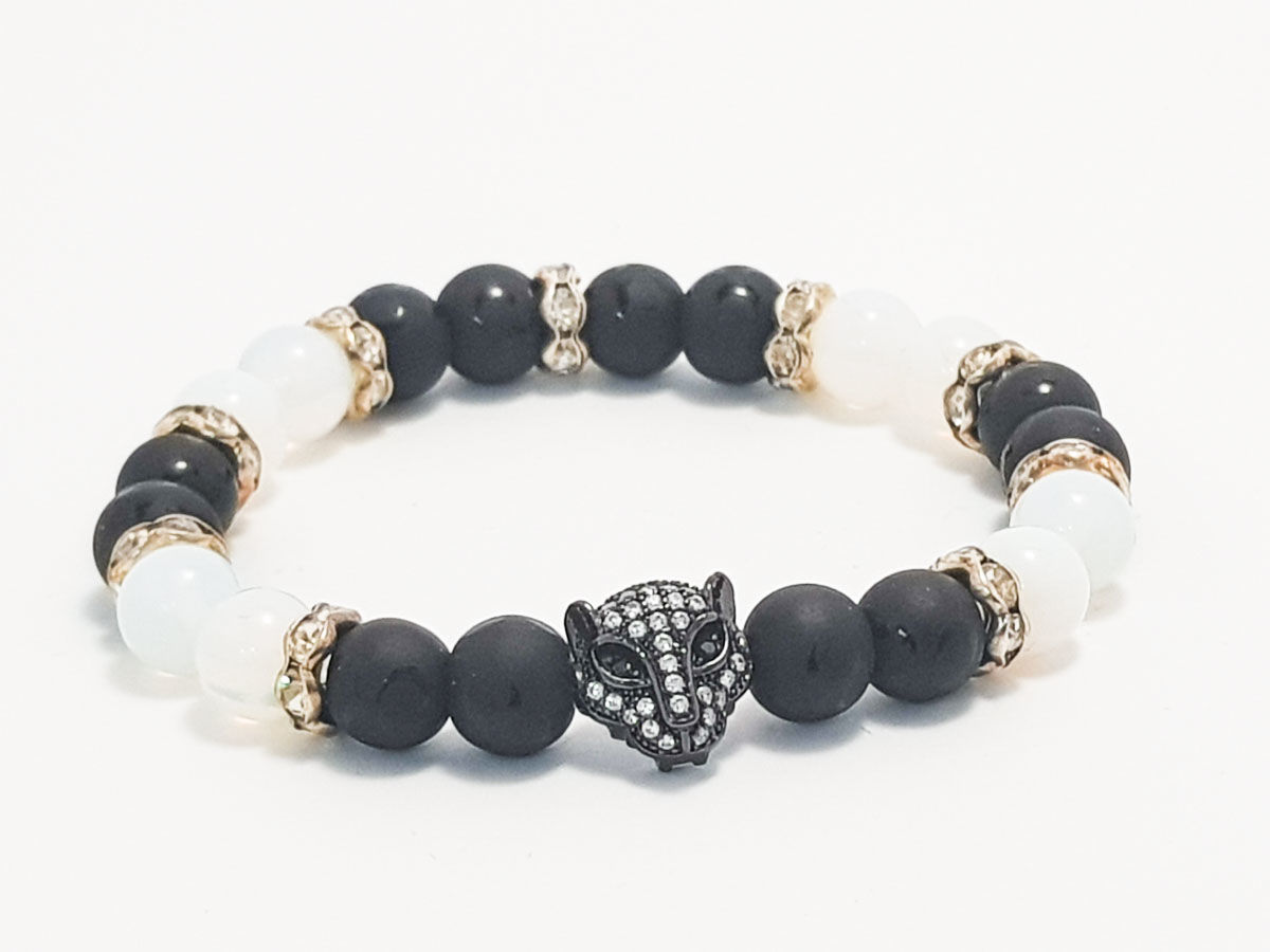 Onyx moonstone black face