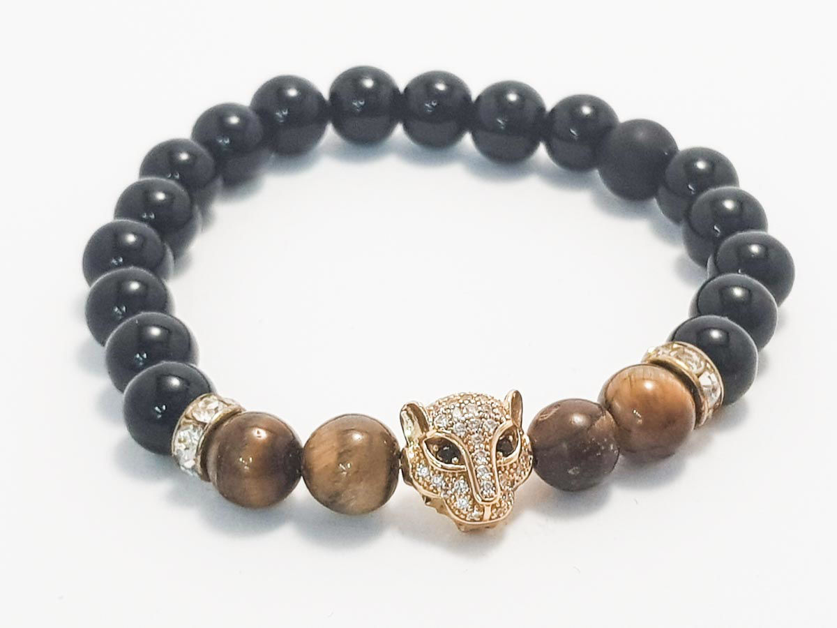 Tiger Eye Onyx Gold Face
