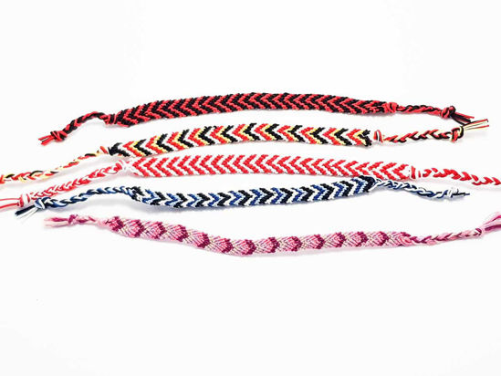 Knotted friendship bracelet
