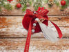 Picture of Christmas pumpkin 7,5 cm in red color with Decoration Handmade.