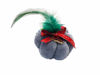 Picture of Christmas pumpkin 7,5 cm in grey color with Decoration Handmade.